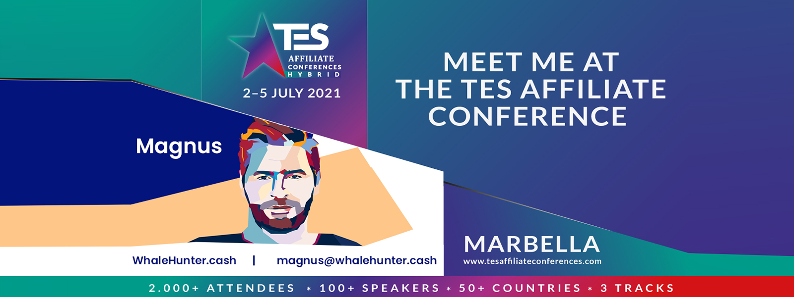Meet WhaleHunter.cash at the TES Affiliate Conferences!